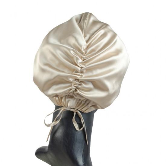 Silk turban (turban) for sleeping, Beige