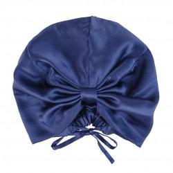 Silk turban (turban) for sleeping, Blue