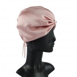 Шелковая чалма (тюрбан) для сна, Темная пудра (Розовый)