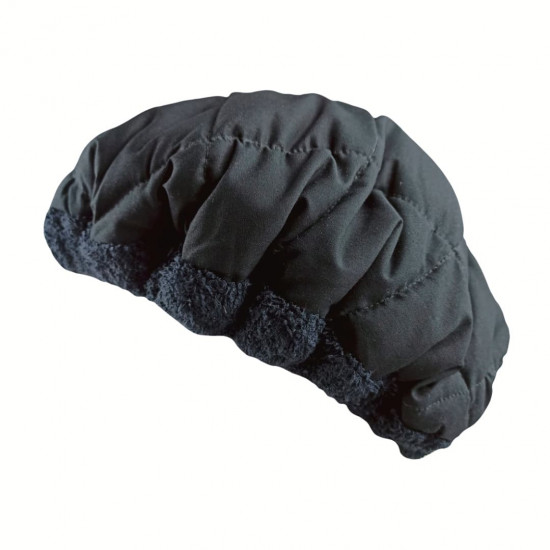 Термошапка для глубокого кондиционирования волос, Чёрная