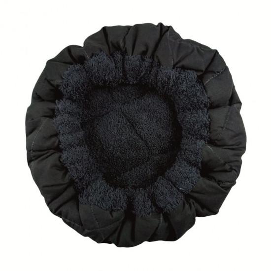 Термошапка для глибокого кондиціювання волосся, Чорна