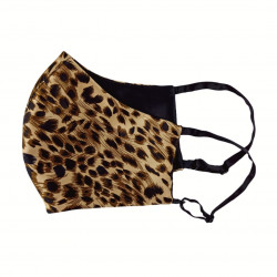 Двусторонняя двухцветная шелковая маска для лица, Leopard/черная