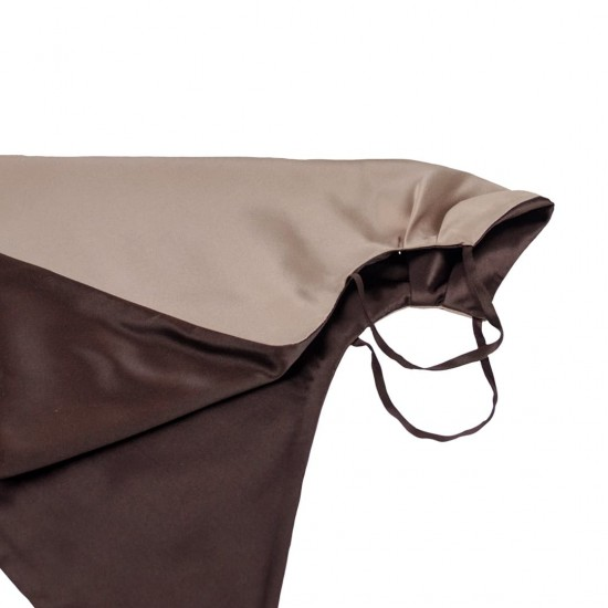 Двостороння шовкова маска-хустка для обличчя, латте/гіркий шоколад