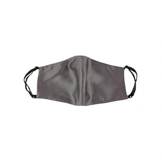 Двостороння двокольорова шовкова маска для обличчя, Dark Grey/чорна