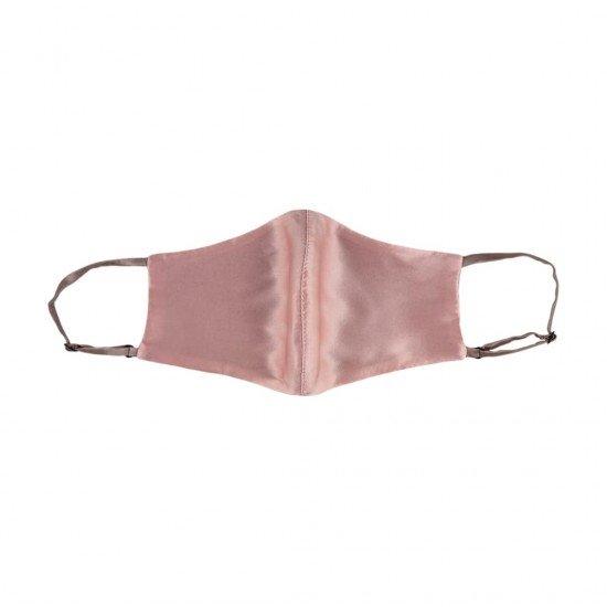 Двостороння двокольорова шовкова маска для обличчя, Темна пудра (рожевий)/Латте