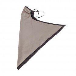 Двусторонняя шелковая маска-платок для лица, латте/горький шоколад