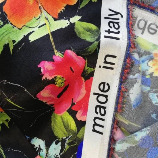 Шовкова резиночка Twilly, квітковий принт D&G
