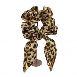 Шелковая резиночка для волос c ушками, Leopard