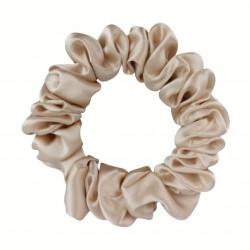 Narrow Silk scrunchie, Beige