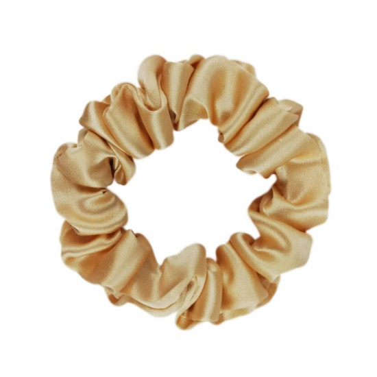 Шелковая резиночка для волос, узкая, Золото