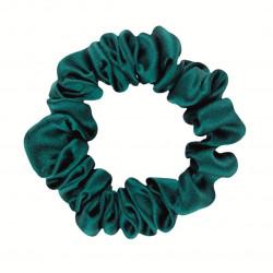Narrow Silk scrunchie, Emerald
