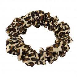 Шовкова резиночка для волосся, вузенька,  Leopard