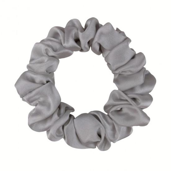 Шовкова резиночка для волосся, вузька, Light gray