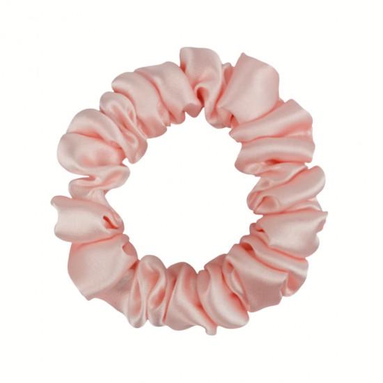 Шелковая резиночка для волос, узкая, Розовая