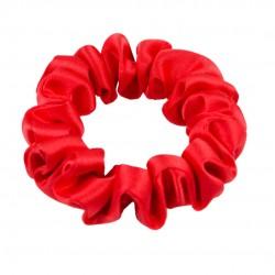 Шовкова резиночка для волосся, вузька, Scarlet