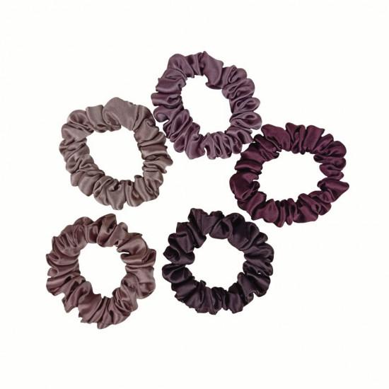сет Choco - набір з п'яти вузьких шовкових резиночок