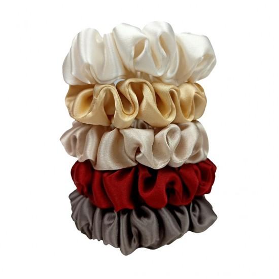 Warm - набір з п'яти вузьких шовкових резиночок