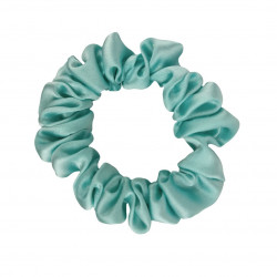 Narrow Silk scrunchie, Mint