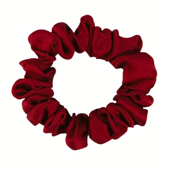 Narrow Silk scrunchie, Venetian red