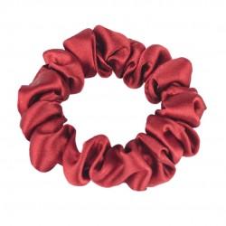 Шовкова резиночка для волосся, вузька, Венеціанський червоний