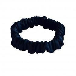 Шовкова резиночка для волосся, Скінні, чорна