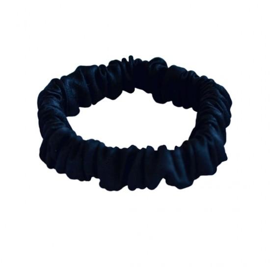 Шелковая резиночка для волос, Скинни, Черная