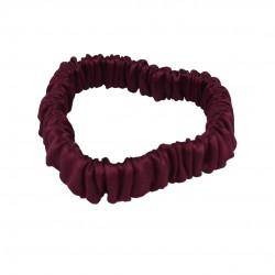 Шовкова резиночка для волосся, Скінні, у бордовому кольорі
