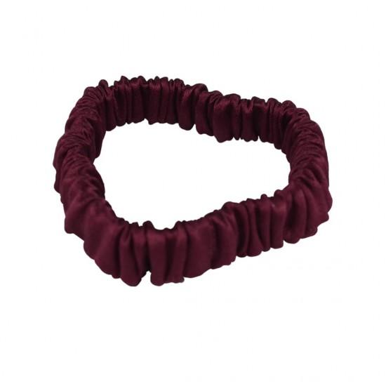 Шелковая резиночка для волос, Скинни, в бордовом цвете