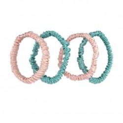 Набір шовкових резиночок для волосся, Скінні, Рожеві, Tiффані