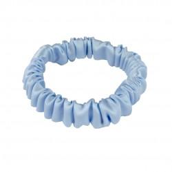 Шовкова резиночка для волосся, Скінні, Блакитна