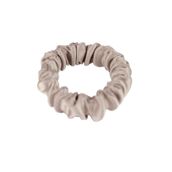 Дитяча шовкова резиночка для волосся, Скінні, Теплий тауп