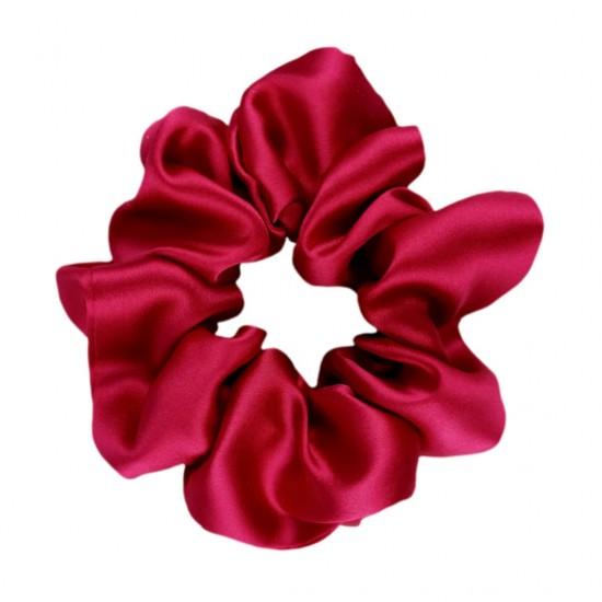 Wide Silk scrunchie, Аmaranth