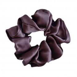 Wide Silk scrunchie, Brownie