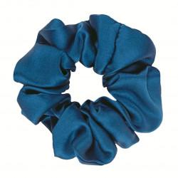 Wide Silk scrunchie, Dark Blue