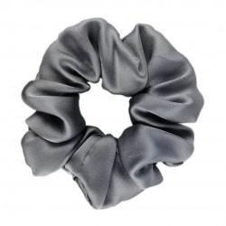 Шелковая резиночка для волос, широкая, Dark Grey