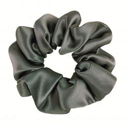 Шелковая резиночка для волос, широкая, Green Gray