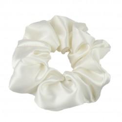 Шелковая резиночка для волос, широкая, в молочном цвете