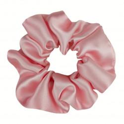 Wide Silk scrunchie, Pink