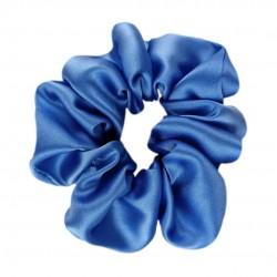Шовкова резиночка для волосся, широка, Royal Blue