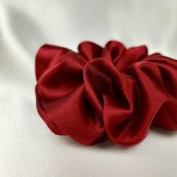 Шовкова резиночка для волосся, широка, Венеціанський червоний
