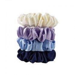 Snow Queen-Set of four narrow silk scrunchies