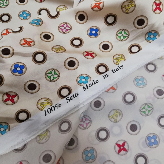 Narrow Silk scrunchie , LV-classic