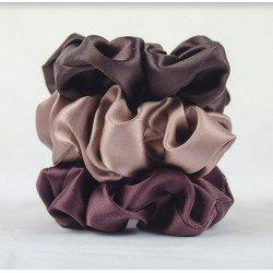 """""""Шоколадный сет"""" из трех широких шелковых резиночок"""