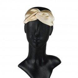Silk headbands, Golden Beige