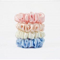 MiMiMi-Set of four narrow silk scrunchies