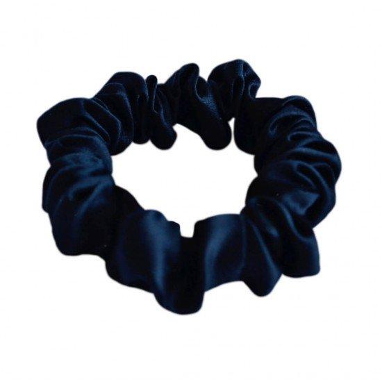 Narrow Silk scrunchie, Black