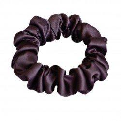 Шелковая резиночка для волос, узкая, Брауни