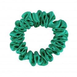 Шелковая резиночка для волос, узкая, Ярко зеленая