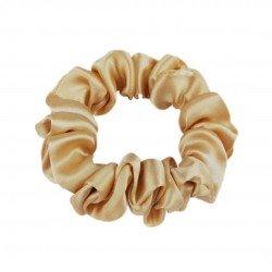 Шовкова резиночка для волосся, вузька, золото