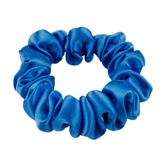 Шовкова резиночка для волосся, вузька, Норвезький синій